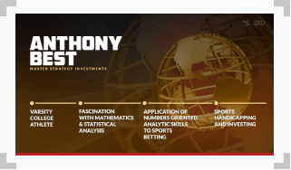infographic showing a timeline of anthony best's skillset