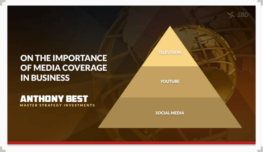 infographic outlining media coverage hierarchy