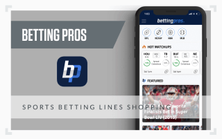 a graphic showing a screenshot of the Betting Pros betting app