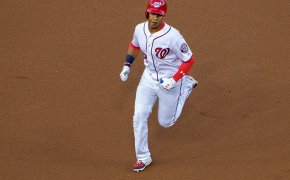 Washington Nationals outfielder Juan Soto running the bases