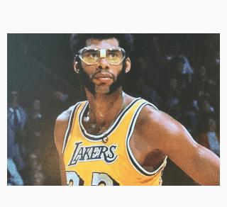Kareem Abdul-Jabbar with Lakers