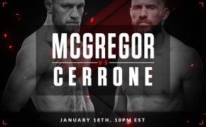Conor McGregor vs Donald Cerrone promotional poster
