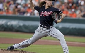 Mike Clevinger on the mound