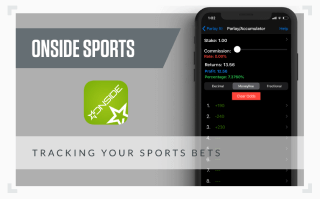 graphic showing screenshot of the Onside Sports betting app
