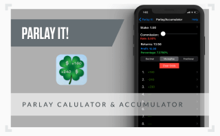 A graphic showing a screenshot of the Parlay betting app
