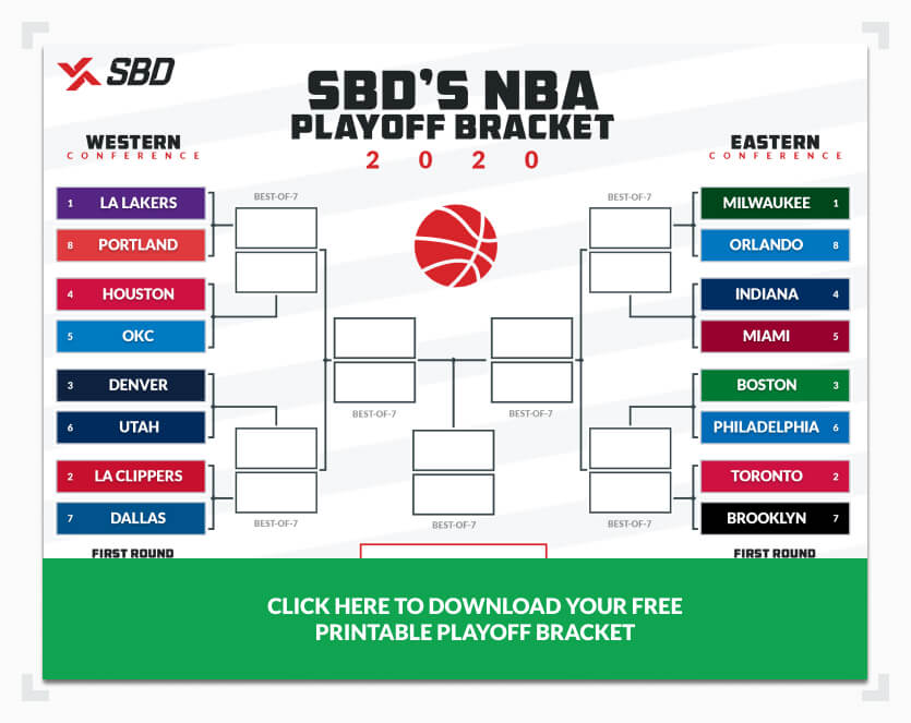 Printable 2020 Nba Playoffs Bracket Fill Out Your Picks Here