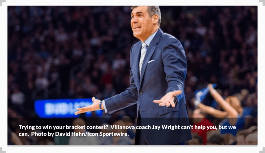Photo of Villanova coach Jay Wright