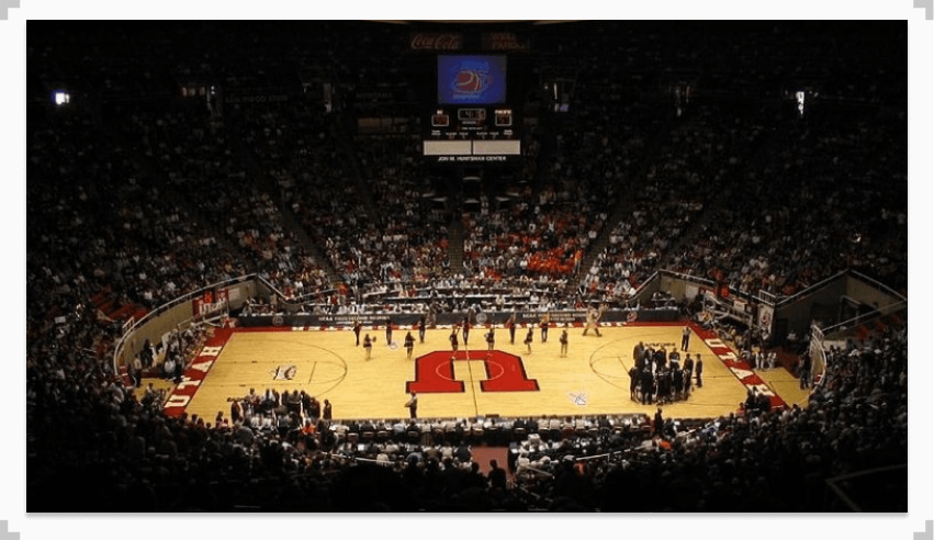 Image of The Huntsman Center Utah, Basketball Court