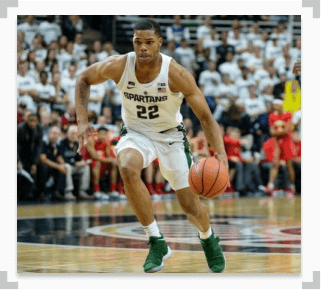 photo of MSU Spartans forward Miles Bridges