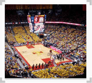 An Image of Hilton Coliseum at Iowa State, Basketball Court