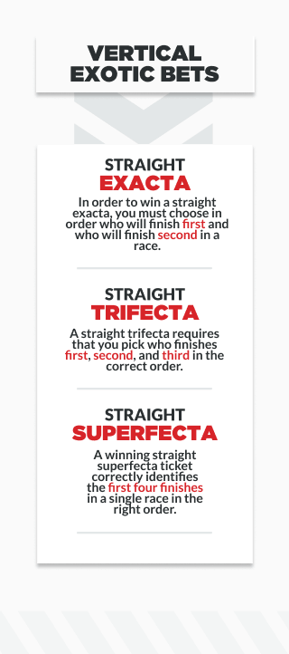 infographic explaining vertical exotic bets in horse racing