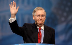 Mitch McConnell is confident the Republicans can improve their standing in the Senate after the Midterms