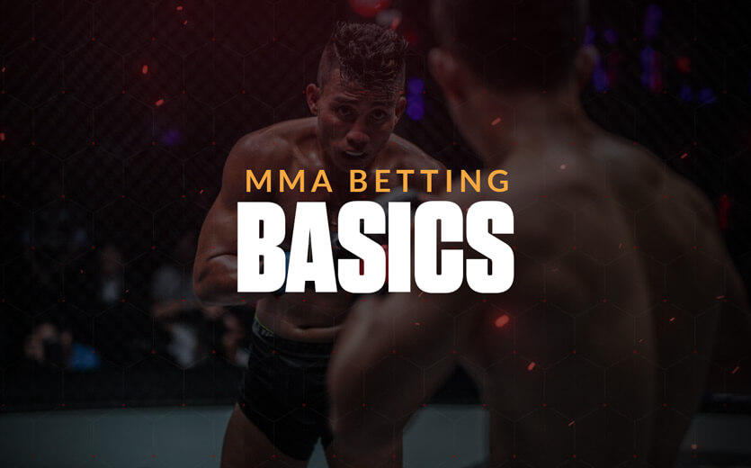MMA betting basics text overlay on UFC image