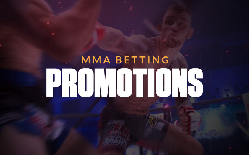 MMA Betting promotions text overlay on UFC image