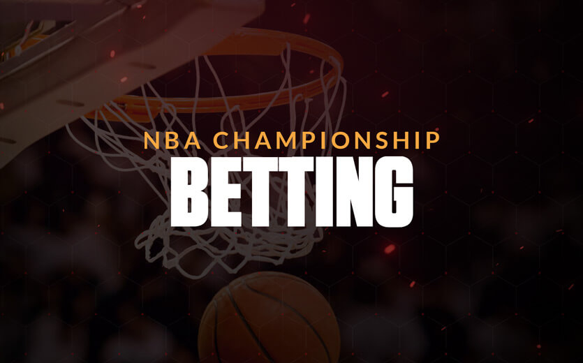 NBA Championship Betting text overlay on basketball image