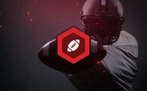 NFL football betting icon on football image