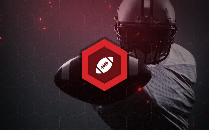 NFL football betting icon on football image
