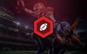 Football betting icon overlaid on NFL image