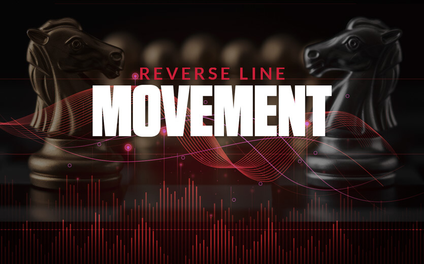 Reverse line movement text overlay