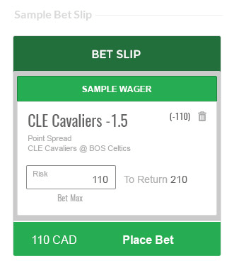 sample betting slip cavaliers point spread -.15