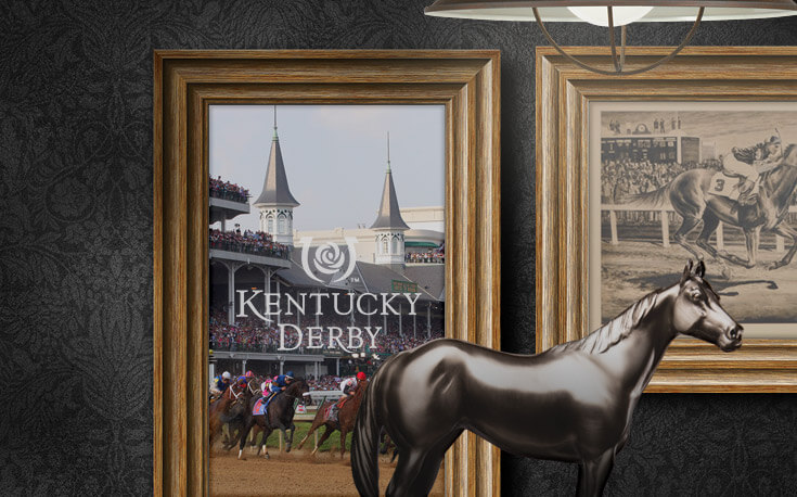 kentucky derby horse painting