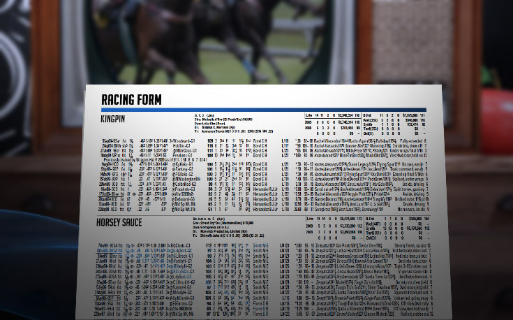 read horse racing betting program racing form kingpin