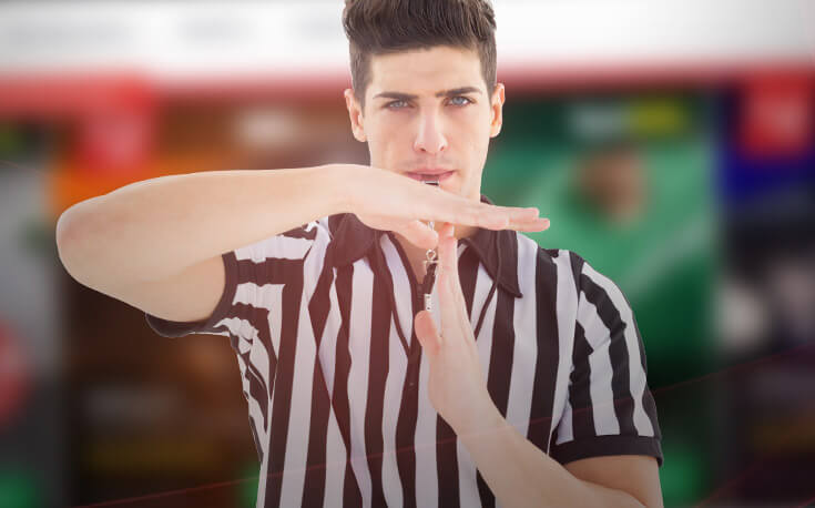 self exclusion referee timeout