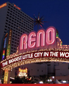 Top gambling destination Reno, Nevada