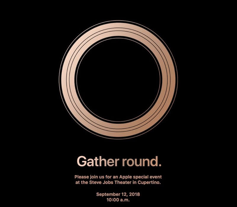 The invite to the upcoming Apple event.