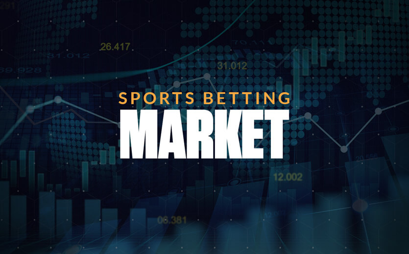sports betting market text with stocks tracker
