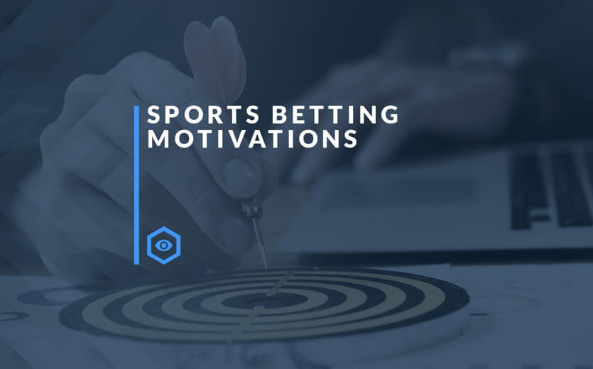 sports betting motivations text overlay on note taking image