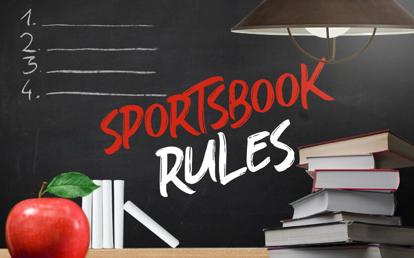 sportsbook rules written on betting 101 chalkboard