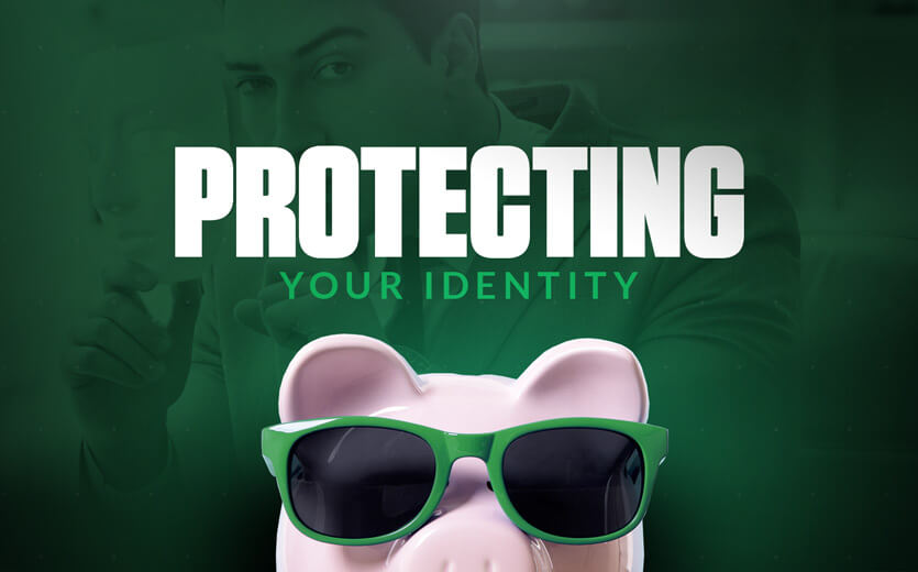 protecting your identity piggie