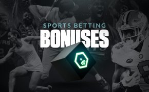 sports betting bonuses text overlay with sports players