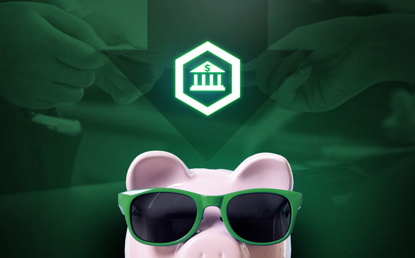 bank icon piggie