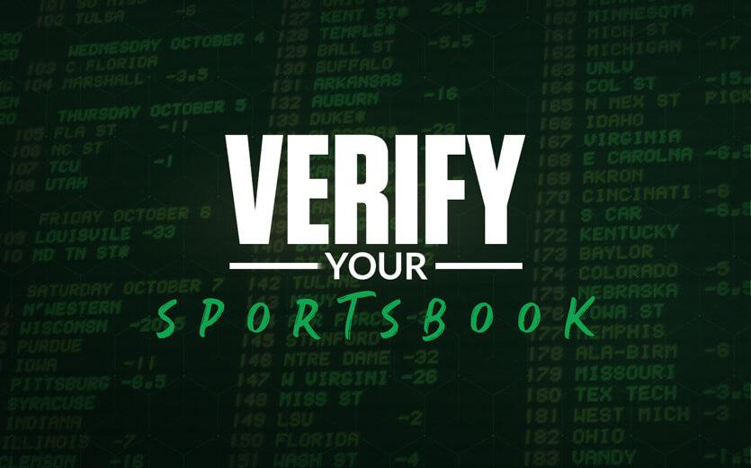 verify your sportsbook