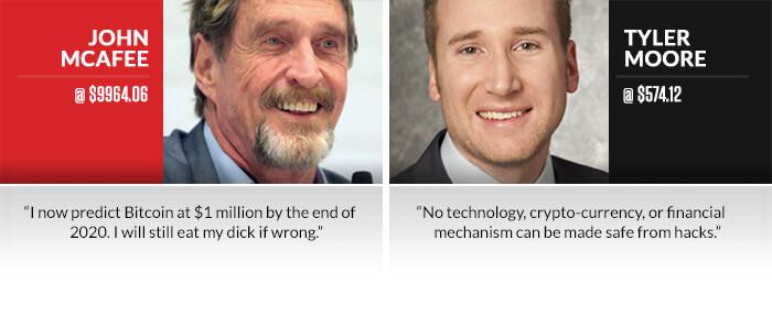 Mcafee vs. Moore Bitcoin Face Off