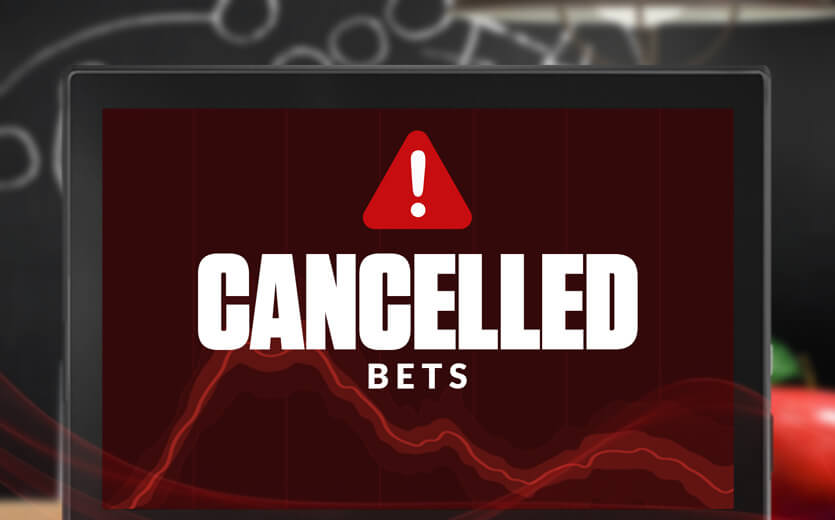 cancelled bets text overlay on laptop